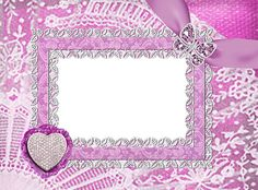 Heart and Butterfly Jewellery Pink Transparent Frame