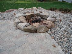 driveways with firepits   Fire Pits by Connecticut Landscape Professionals Birch Mountain ...