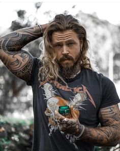 Beautiful Boys, Gorgeous Men, Bearded Tattooed Men, Viking Men, Beard Care, Hair And Beard Styles, Haircuts For Men, Pretty People, Tattoos For Guys