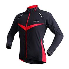 West Biking Cycling Winter Outdoor Sports Windbreaker Jacket Long Sleeve Windproof Jersey for Men and Women Cycling CoatBlackRedXXL * Click image to review more details.Note:It is affiliate link to Amazon.