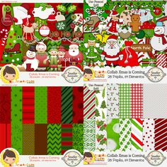 Collab Xmas is Coming com Armazém Criativo, Christmas, natal, Boneco de neve, snowman, tag, tags, santa claus, santa, papai noel, estampas, patterns, plaid, tree, árvore, kitt digital, digital kit, elementos, papéis, elements, papers, paper