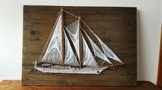 Adornate - an elegant Romanian schooner.  ArtCraft StringArt Boat