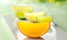Gajos de gelatina de limón