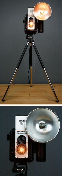 Vintage camera lamp #DIY #idea  I NEED IT