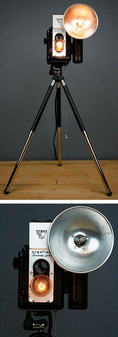 Vintage camera lamp #DIY #idea I NEED IT