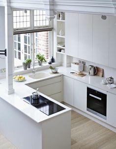 La cuisine en u est flexible et fonctionnelle. Les idées pour optimiser au maximum l'espace dans cette configuration sont nombreuses !