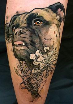 Bob Mosquito dog tattoo