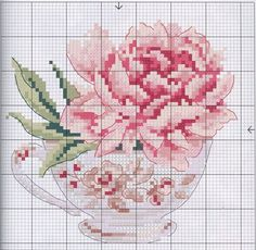 Peonies, imprinted in the picture with cross stitch, bring harmony and tenderness to any interior. We have prepared diagrams and an overview of the set for embroidery Modern Cross Stitch Patterns, Counted Cross Stitch Patterns, Cross Stitch Designs, Cross Stitch Embroidery, Cross Stitch Flowers Pattern, Cross Stitch Cards, Cross Stitch Rose, Cross Stitching, Cross Stitch Kitchen