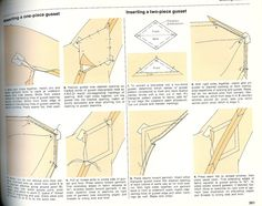 sewing a gusset- this is the magic for creating a garment you can move in.