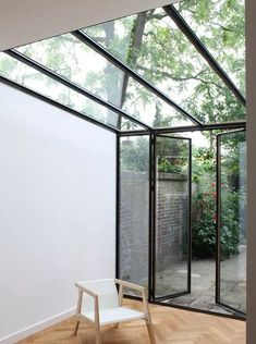 Lean to extension . Interior Architecture, Interior And Exterior, Future House, My House, Glass Extension, Extension Ideas, Glass Room, Lean To, House Extensions