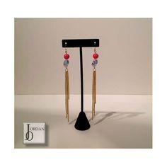 Crystal- swarovski crystal drop earrings  In love