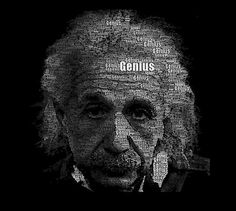 One of the most famous and brilliant dyslexics of all time: Albert Einstein. This portrait is made out of a single word: genius. by Typography on Google+