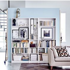 """23 Likes, 1 Comments - Lisa Ibba (@lisaibba) on Instagram: """"I love how this simple IKEA """"Billy"""" bookcase adds charm and design. I want this for my home office!…"""""""
