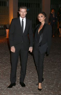 Hot! or Hmm…: Victoria Beckham's Global Fund Gala Victoria Beckham Fall 2013 Tuxedo Jacket and Straight Legged Pants. V&DB better WERK for the cameras!