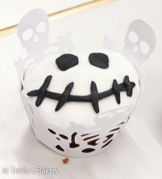 Skull halloween muffin