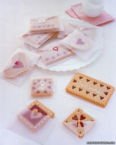 Glassine envelopes are darling see-through, structured envelopes that can double as a way to present your sweet and personalized treats. For delicious recipes for Valentine's Day, check out http://www.simplycreate.com/.