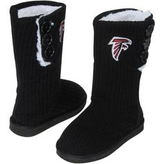Atlanta Falcons Women's Knit High-End Button Boot Slippers is available now at FansEdge. Enjoy fast shipping and easy returns on all orders of [[product_name]]. Falcons Football, Falcons Gear, Atlanta Falcons Rise Up, Thing 1, Football Outfits, Slipper Boots, Georgia Bulldogs, Indianapolis Colts, Cincinnati Reds