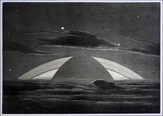 """Sur Les Autres Mondes"""", Lucien Rudaux, Larousse, 1937 - News - Actualités - Les Observatoires du Clain Science Fiction Art, French Artists, Fig, Whale, Lucien, Painting, Animals, Animales, Animaux"""