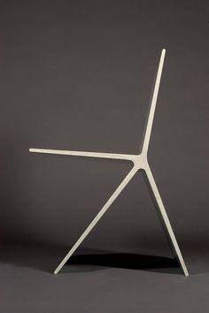 ♂ Minimalist Design concrete chair profile