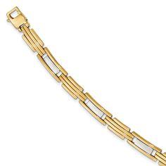 14k Two-tone Polished 8.5in Bracelet