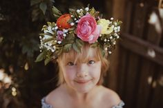 Myla VonBlanckensee photo by Tessa Cheetham #flowers #flowercrowns #colours #photography #photoshoot #photos #portrait #afternoon #outdoors #nature #teddies #bunnies #smiling