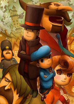 Layton and the Curious Village by Ry-Spirit.deviantart.com