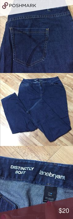 Size 20 Tall Lane Bryant Blue Jeans Gently are used no stains or flaws like new boot cut tall jeans Lane Bryant Jeans Boot Cut