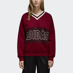 premium selection a2904 0e2b1 Collegiate style and vintage cheerleading uniforms inspire this womens  sweatshirt. Classic details shine with tricolour
