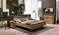 V-Pur – Schlafzimmer-Naturholzmöbel in Eiche Altholz