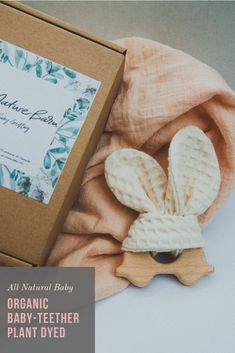 Super cute and safe for your baby and the planet! Made from GOTS certified organic Cotton and untreated beech wood. Dyed only with plant material, zero chemicals involved! Baby Led Weaning, Organic Baby, Organic Cotton, Montessori Baby, Baby G, Baby Teethers, Natural Baby, Baby Toys, Wooden Toys