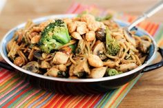 Spicy Peanut Noodle Stir-Fry.  I made this tonight and it is so good.  It is rare that I find a recipe that I don't have to change a thing on.  The only thing I did was make double the sauce because it is so good.  If you like Phad Thai, you will love this dish.