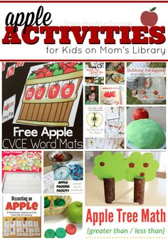So many fantastic apple themed activities for kids!  These are all perfect for fall!