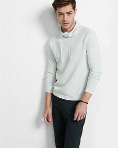 raglan sleeve textured funnel neck sweater