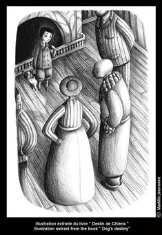 "Benjamin Lacombe - Illustration from ""Destin de Chiens"""