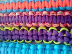 Colorful Paracord bracelets up close, by Paracordable.