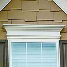 Pergola Attached To House Plans Code: 7431824053 Interior Window Trim, Exterior Remodel, Exterior Trim, Pvc Windows, Pediment, Windows Exterior, Window Design, Window Trim Exterior, Shutters Exterior