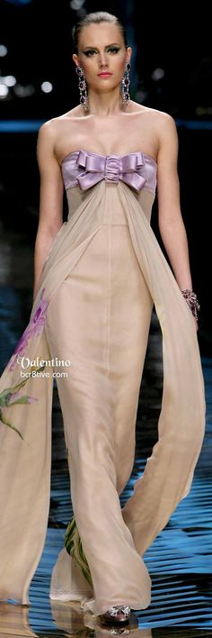 Valentino Long Bow Tied Evening Gown