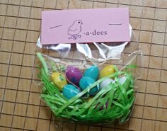 Little easter goodie bag for school friends patelyns board of cute easter printablestreat ideas negle