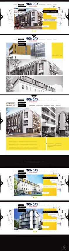Monday.pl by Lukas Münch, via #Behance #Webdev #Web #Webdesign