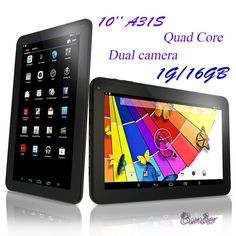 """Bunder 2016 New Arrivals 10.1"""" A31S Quad Core Google Android 4.4 KitKat Tablet PC, 1GB RAM, 16GB Nand Flash, Bluetooth, Dual Camera, HDMI, Google Play Pre-installed, 3D Game Supported. HIGHLY POWERFUL A31S QUAD-CORE PROCESSOR. The 16GB nand flash allows you to download thousands of apps such as Angry Birds, Fruit Ninja, Temple Run, Quickoffice, etc from Google Play Store. While 802.11 b/g/n WiFi keeps you connected on the go. Bunder newest model Quad Core CPU, with 1GB DDR3 pushes you to…"""