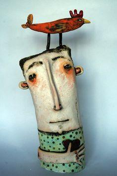 Sarah Saunders ceramics 2011  really charming face.