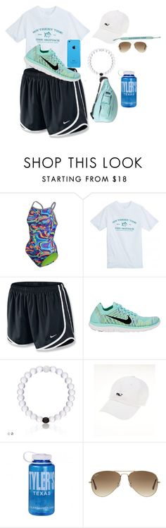 """""""Sesame Place"""" by maggie268 ❤ liked on Polyvore featuring Dolfin, NIKE, Nalgene, Kavu and Ray-Ban"""