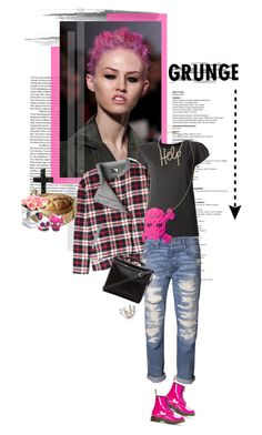"""""""Pink Friday - Grunge is Back"""" by celida-loves-pink ❤ liked on Polyvore featuring BA&SH, NSF, Happiness, Dr. Martens, Betsey Johnson, Lanvin, PEONY, 3.1 Phillip Lim and Accessorize"""