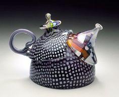 Richard Marquis teapot, 1979 U.S. Blown, cut, polished glass ...
