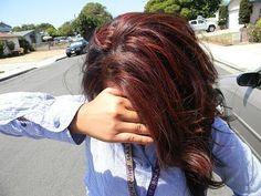 Brown Hair With Auburn Highlights