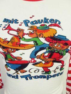 Vintage 1980s Drunk Band Cartoon Skinny Guy Stretch Euro T-Shirt XXS