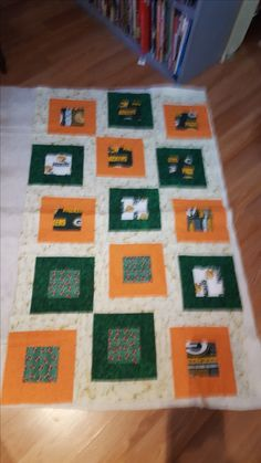 Packers Baby Quilt, needs quilted