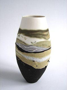 Sue Scobie — Tidelines, coiled porcelain and stoneware, unglazed