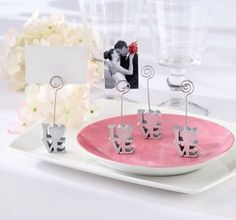 $1.50 each Love Place Card Holder Wedding Favor - Party City
