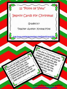 Point of View Improv Activity - A Christmas Freebie for Grades 5-7